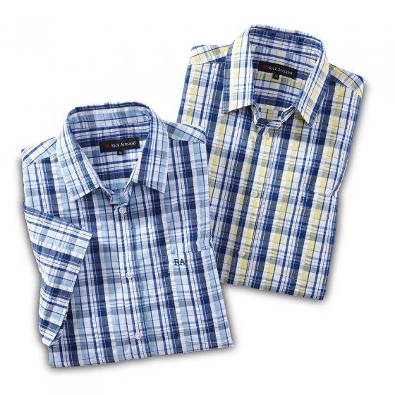 Strijkvrij seersucker-overhemd