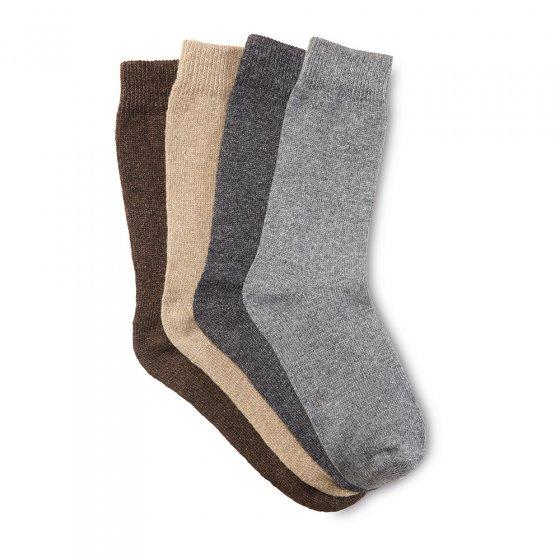 Wollen sokken met alpaca Set van 4