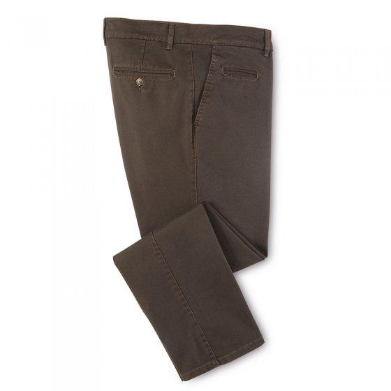 Chino-broek van katoen,Olijf 50 | Olijf