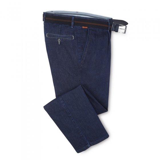 prettige bandplooi-jeans 27 | Zwart