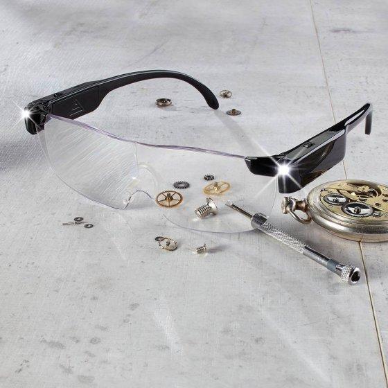 Vergrotingsbril met licht