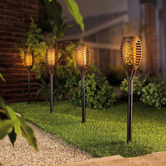 Solar-fakkellamp 4 stuks