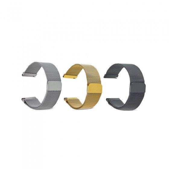 Milanaise-armband met magneetsluiting 22 (22 cm) | Zilverkleur