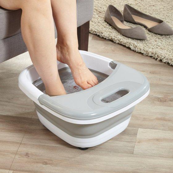 Inklapbaar voetenbruisbad