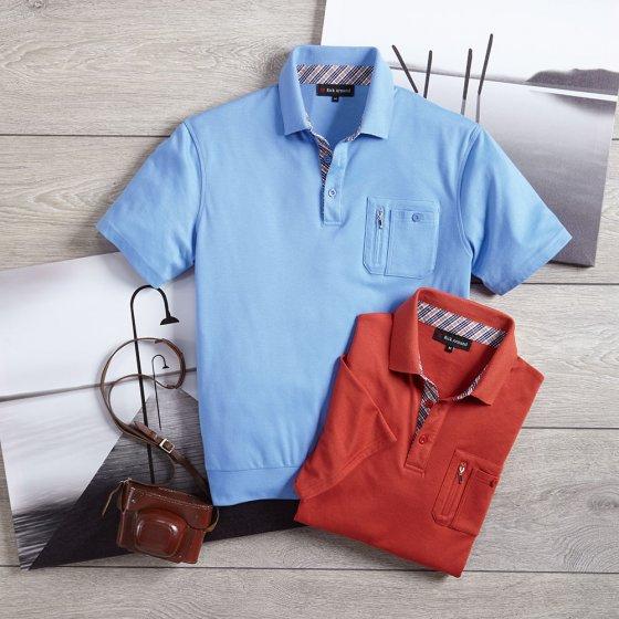Interlockshirt met contrasten