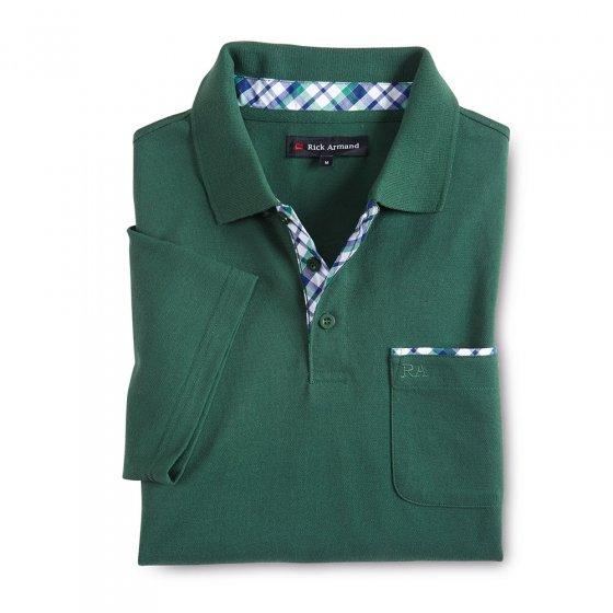 Poloshirt met contrastbeleg Set van 2 stuks XXL | Groen+Wit