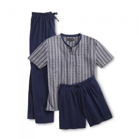 3-delige jersey-pyjama