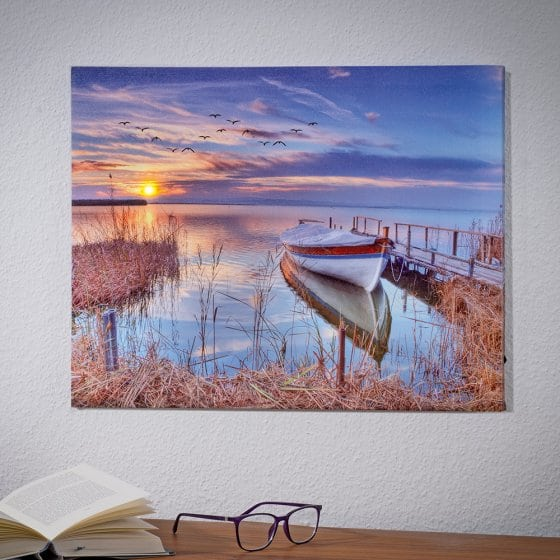 "Led-artprint  ""Seeblick"""