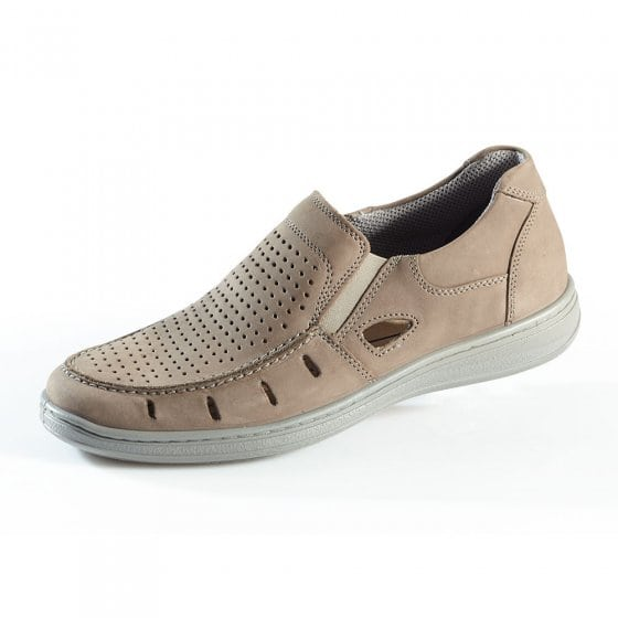 Aircomfort stretch-instappers 44 | Taupe