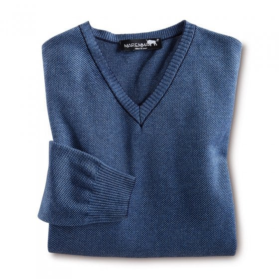 Moderne trui met V-hals 52 | Geel