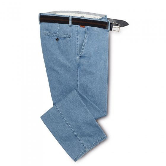 Jeans met lagere band 50 | Grijs