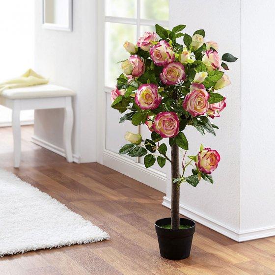 Grote rozenstruik met ledverlichting