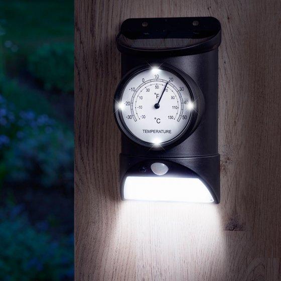 Buitenthermometer met solar-verlichting