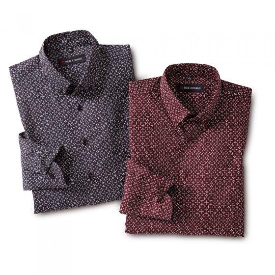 Modern gedessineerd overhemd