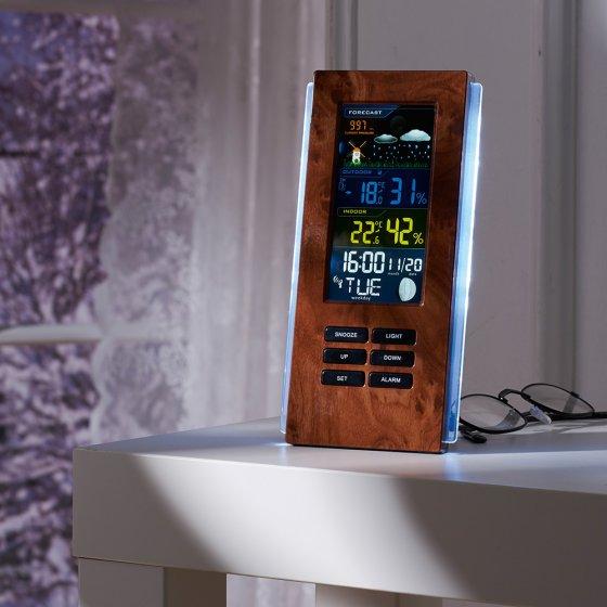 Radiografisch weerstation in houtstijl