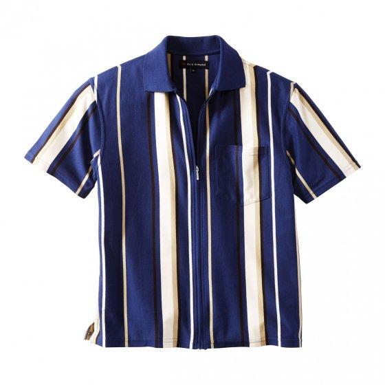 Jerseyshirt met doorlopende ritssluiting