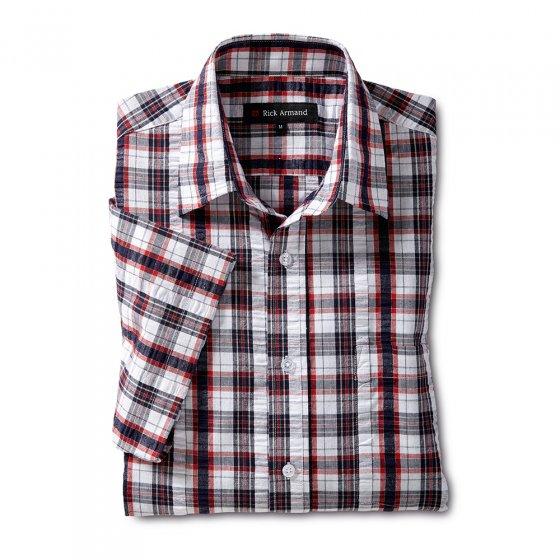 Maritiem seersucker-overhemd