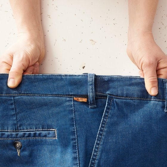 Jeans met stretchband