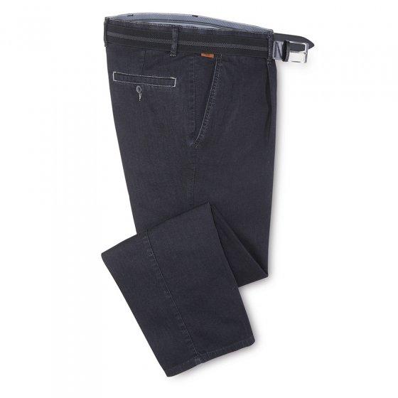 prettige bandplooi-jeans