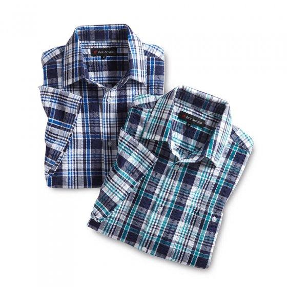 Sportief seersuckeroverhemd