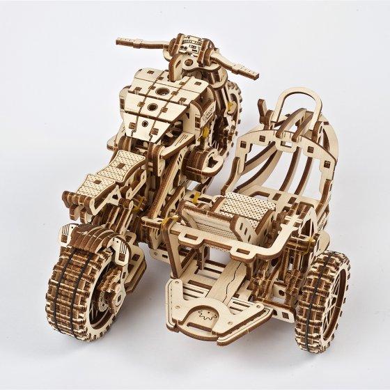 Houten model motorcross-bike