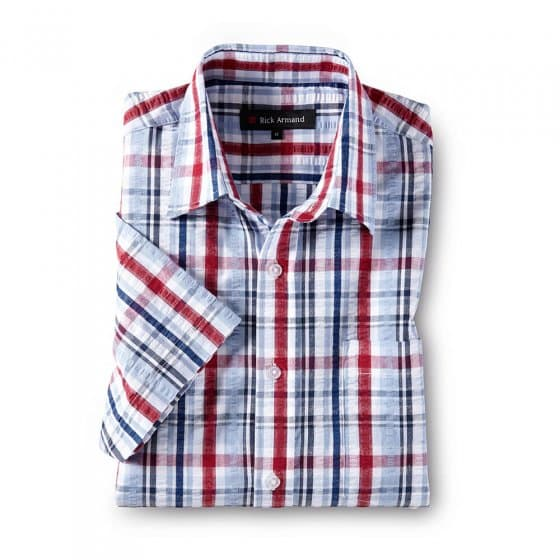 Strijkvrije seersucker-overhemd