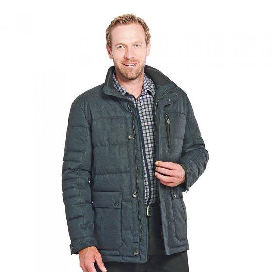 Gewatteerde jas in wol-look