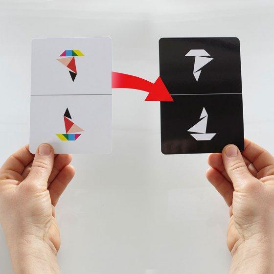 Houten tangramspel Set van 2 stuks