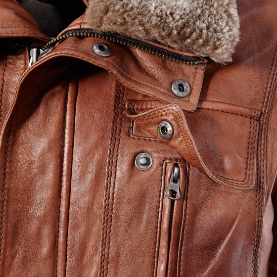 Hoogwaardige lamsleren jas