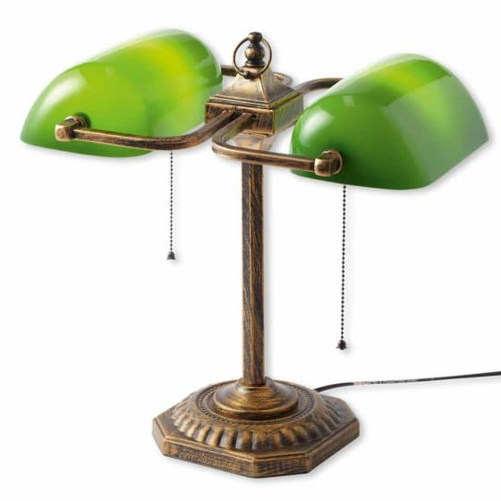 Dubbele bankierslamp