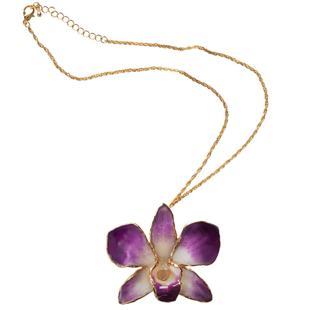 ketting met echte orchidee bloem voordelig ketting met. Black Bedroom Furniture Sets. Home Design Ideas
